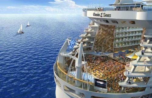 Größtes Schiff Der Welt Macht In Barcelona Station Bootede
