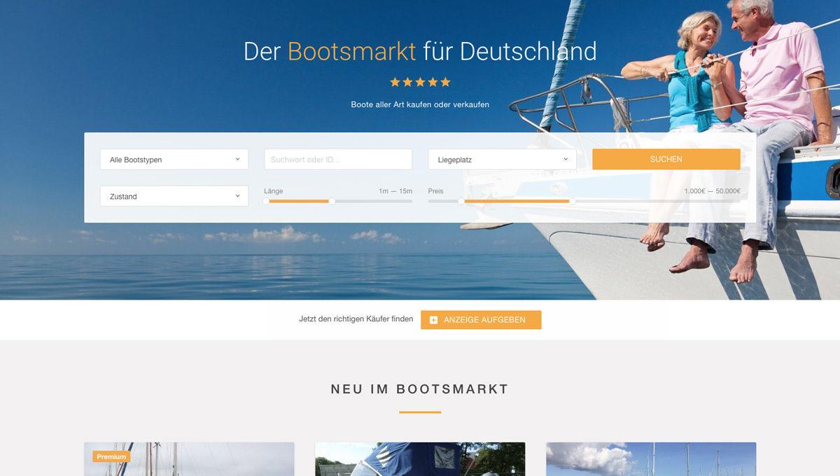 Boote.de in neuem Design
