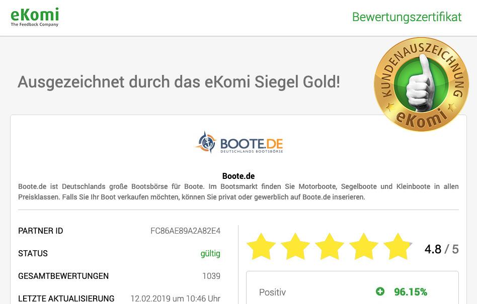 Maximale Kundenzufriedenheit bei Boote.de