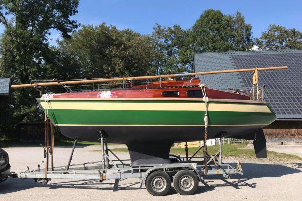 Holzsegelboot Unikat